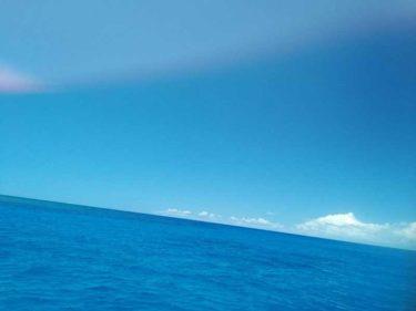 今日の海はとても綺麗でした。