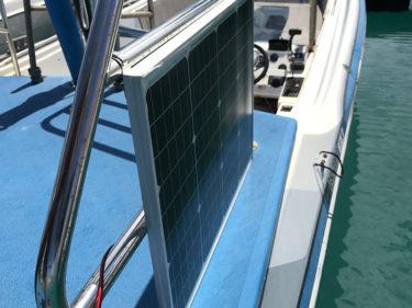 ソーラーパネル充電器を設置しました!